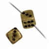 Beads Metalized Dice 5mm Antique Gold